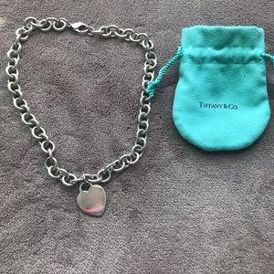 Tiffany &Co heart tag necklace